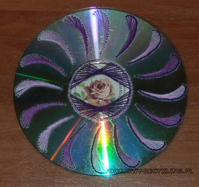 Haft matematyczny na płycie CD