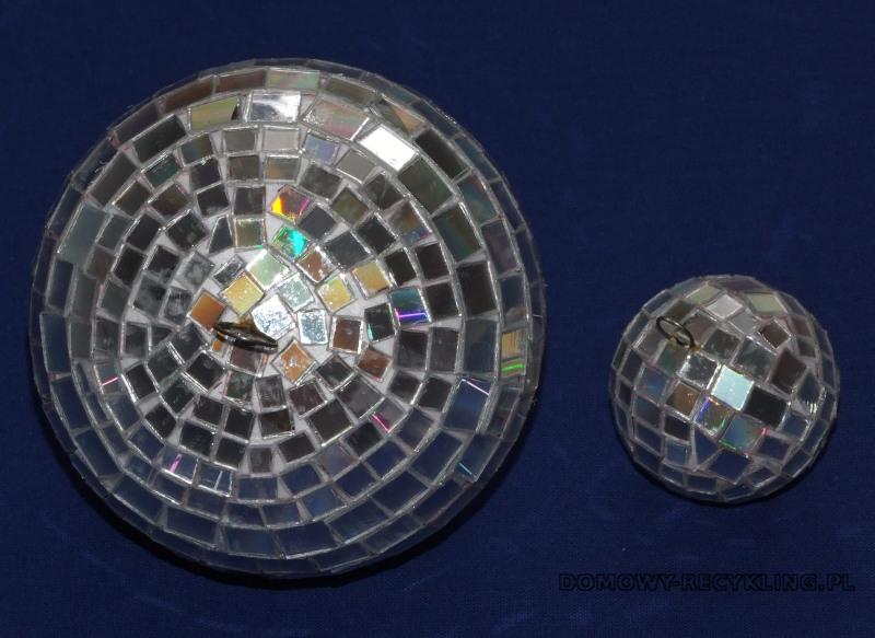 Bombki oklejone kawałkami płyt CD są wyjątkowe