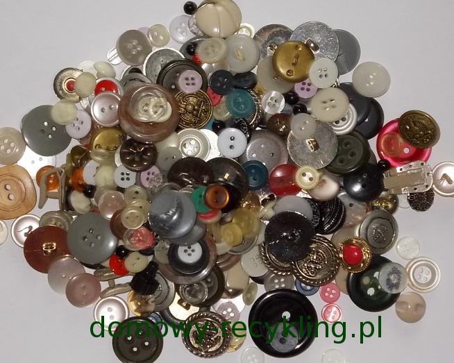 Domowy zbiór guzików